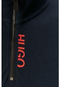 Niebieska koszulka polo Hugo casualowa, polo, na co dzień