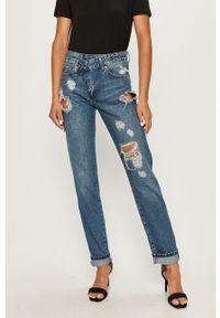 Niebieski jeansy loose fit ANSWEAR wakacyjny, w kolorowe wzory