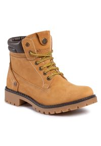 Żółte buty trekkingowe Wrangler z cholewką