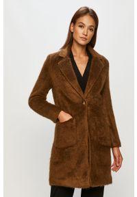 Brązowy płaszcz only na co dzień, bez kaptura, casualowy