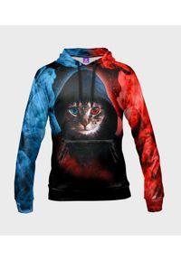MegaKoszulki - Bluza damska fullprint z kapturem Hacker Cat. Typ kołnierza: kaptur. Materiał: dzianina, dresówka
