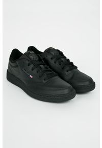 Reebok Classic - Buty Club C 85. Nosek buta: okrągły. Zapięcie: sznurówki. Kolor: czarny. Materiał: guma. Model: Reebok Classic, Reebok Club
