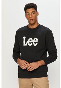 Lee - Bluza bawełniana. Okazja: na co dzień. Kolor: czarny. Materiał: bawełna. Wzór: nadruk. Styl: casual