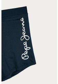 Niebieskie kąpielówki Pepe Jeans z nadrukiem