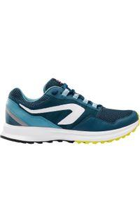 KALENJI - Buty do biegania męskie Kalenji Run Active Grip. Kolor: niebieski, wielokolorowy, turkusowy. Materiał: materiał. Sport: bieganie