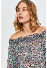 Wielokolorowa bluzka Pepe Jeans w kwiaty, casualowa