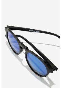 Hawkers - Okulary BAGNAIA X HAWKERS WARWICK BLUE. Kształt: okrągłe. Kolor: czarny