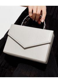 AMINA MUADDI - Biała torebka Pernille. Kolor: biały. Wzór: geometria