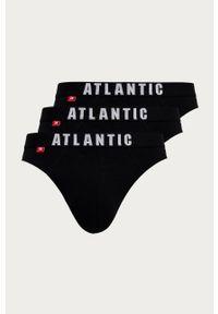 Czarne majtki Atlantic z nadrukiem