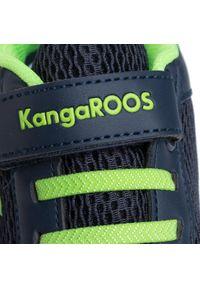 Niebieskie półbuty KangaRoos casualowe, na rzepy, z cholewką, na co dzień