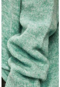 Miętowy sweter ANSWEAR z okrągłym kołnierzem