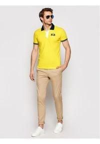 La Martina Polo RMP005 PK001 Żółty Slim Fit. Typ kołnierza: polo. Kolor: żółty