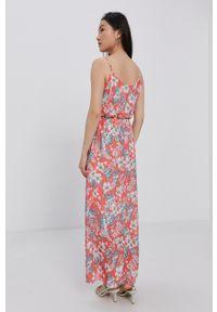 Haily's - Sukienka. Kolor: pomarańczowy. Materiał: tkanina. Długość rękawa: na ramiączkach. Typ sukienki: rozkloszowane