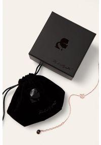 Złota bransoletka Karl Lagerfeld z mosiądzu, z kryształem, z aplikacjami