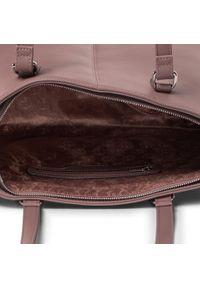 Brązowa torebka klasyczna Puccini skórzana