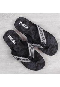 Big-Star - Klapki męskie plażowe japonki czarne Big Star HH174814. Okazja: na plażę. Kolor: czarny. Materiał: tworzywo sztuczne, guma. Styl: elegancki