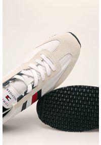 Kremowe sneakersy TOMMY HILFIGER na sznurówki, z okrągłym noskiem, z cholewką #4