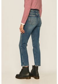 Niebieskie jeansy Wrangler retro, z podwyższonym stanem