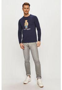 Niebieska koszulka z długim rękawem Polo Ralph Lauren polo, na co dzień