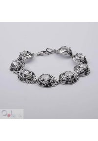 Polcarat Design - Bransoletka srebrna z cyrkoniami L 1569. Materiał: srebrne. Kolor: srebrny. Kamień szlachetny: cyrkonia