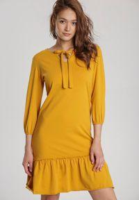 Renee - Żółta Sukienka Mereriena. Kolor: żółty