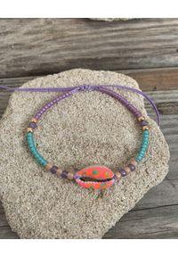 BONK IBIZA - Różowa bransoletka z muszlą. Kolor: zielony