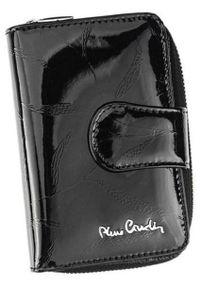 Portfel damski Pierre Cardin 02 LEAF 115 CZARNY. Kolor: czarny. Materiał: skóra. Wzór: aplikacja