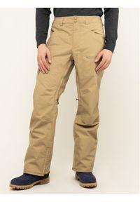 Brązowe spodnie sportowe Burton narciarskie