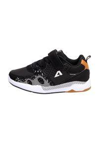 American Club - Sportowe buty dziecięce AMERICAN BS09/21 BK. Kolor: czarny. Materiał: skóra