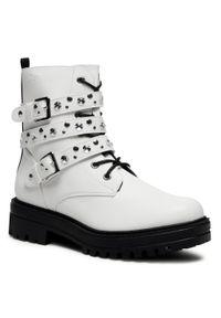 Białe buty trekkingowe s.Oliver z cholewką, klasyczne