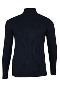 Niebieski sweter Brave Soul na zimę, z golfem, elegancki