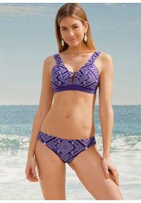 Fioletowy strój kąpielowy bonprix z aplikacjami