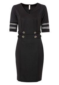 Sukienka ołówkowa bonprix czarny. Kolor: czarny. Typ sukienki: ołówkowe. Styl: elegancki