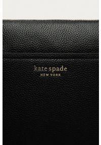 Kate Spade - Torebka skórzana. Kolor: czarny. Materiał: skórzane. Rodzaj torebki: na ramię