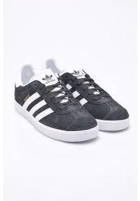 Szare buty sportowe adidas Originals na sznurówki, z okrągłym noskiem