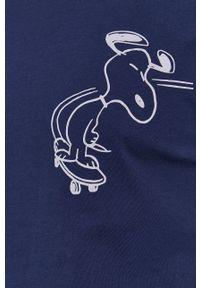 s.Oliver - s. Oliver - T-shirt. Okazja: na co dzień. Kolor: niebieski. Materiał: bawełna. Wzór: nadruk. Styl: casual