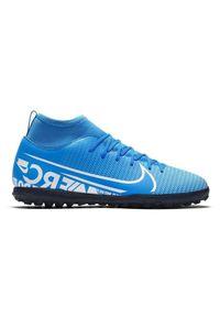 Buty dla dzieci do piłki nożnej Nike Mercurial Superfly 7 Club TF AT8156. Materiał: skóra, guma, syntetyk. Szerokość cholewki: normalna. Sport: piłka nożna