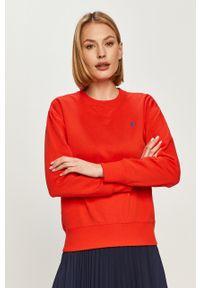 Czerwona bluza Polo Ralph Lauren polo, gładkie, na co dzień, casualowa