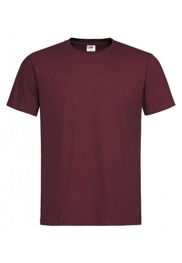 Czerwony t-shirt Stedman na co dzień, krótki