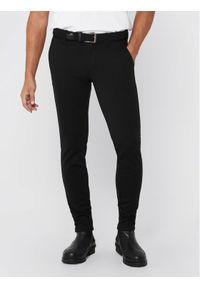 Only & Sons - ONLY & SONS Spodnie materiałowe Mark 22010209 Czarny Slim Fit. Kolor: czarny. Materiał: materiał