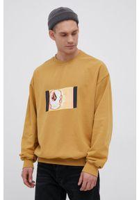 Volcom - Bluza x Animoscillator. Kolor: żółty. Wzór: nadruk