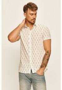 Biała koszula Selected z krótkim rękawem, krótka, na co dzień, z klasycznym kołnierzykiem