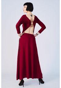 Czerwona sukienka Hultaj Polski na lato, wizytowa, z aplikacjami, na co dzień