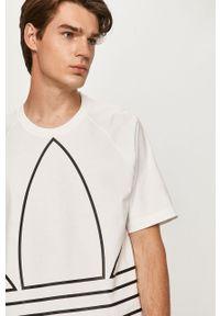 Biały t-shirt adidas Originals z nadrukiem, z okrągłym kołnierzem