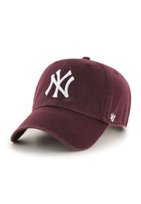 47 Brand - 47brand - Czapka New York Yankees Clean Up. Kolor: czerwony