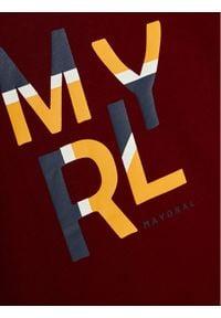 Mayoral Bluzka 173 Bordowy Regular Fit. Kolor: czerwony