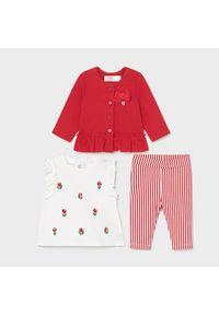 Mayoral Komplet bluzka, sukienka i legginsy 1795 Czerwony Regular Fit. Kolor: czerwony
