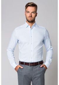 Niebieska koszula Lancerto w kratkę