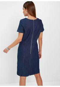 Niebieska sukienka bonprix dopasowana