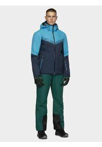 Niebieska kurtka narciarska 4f ze stójką, na zimę, plus size